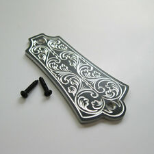 Hand engraved classical pattern aluminum truss rod cover fits Guild guitars