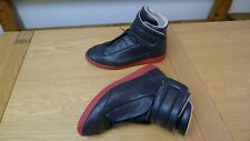 Maison Margiela Black Body/Red Sole 22 Future Leather Hi-top Sneakers Size UK 11