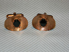 Vintage Onyx on Copper Modernist Cufflinks
