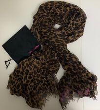 Louis Vuitton Stephen Sprouse Cashmere Silk Scarf Shawl Stole Graffiti Leopard