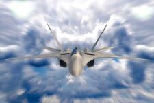 Fa 18 Hornet Supersonic Combat Jet in Deep Blue Sky Photo Art Print Poster 18x12