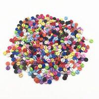 50 bouton rond uni 4 mm couture scrapbooking bricolage 2 trou mercerie création