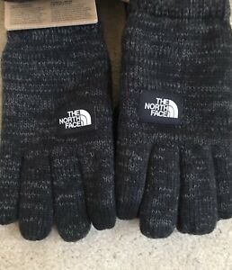 The North Face Etip Salty Dog Knit Suede Tech Gloves Black Small / Medium Men's