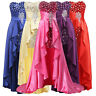 Women Long Formal Evening Ball Gown Cocktail Party Bridesmaid Short Front Dress