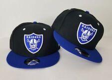 New Era NFL Black / Royal Blue Oakland Raiders Shield Logo 9Fifty Snapback Hat