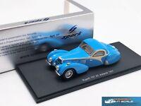 Bugatti T57 SC Atalante 1937 Blue  Spark S2723 resin 1:43