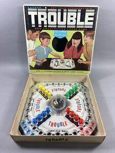 Vintage 1965 TROUBLE Original Board Game Kohner Bros No 310 Complete USA Made