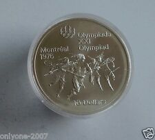 10$ SILVER PROOF COIN MINT XXI OLYMPIAD MONTREAL 1976 EARLY SPORT