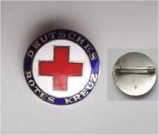 vintage German RED CROSS Badge enamelled , insigne Croix rouge allemande