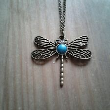bronze effect dragonfly pendant necklace.