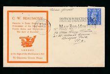 GB KG6 1948 ILLUSTRATED ADVERT ENVELOPE BEAUMONT BOOKS HARLEQUINS BAT + BALLET
