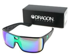 NEW Genuine DRAGON HEX Shiny Black Green Ion Rectangle Men Sunglasses DR 045