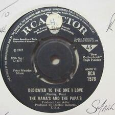 "The Mamas & The Papas(7"" Vinyl 2nd State)Dedicated To The One I Love / Fr-Ex/VG+"