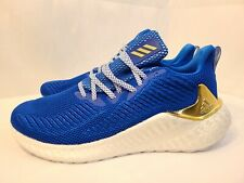 New Adidas AlphaBOOST Glory Blue Gold Running Shoes G54130 Men's Size 9.5