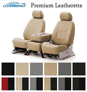 Coverking Custom Front Row Seat Covers Premium Leatherette - Choose Color