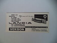 advertising Pubblicità 1961 AUTORADIO AUTOVOX AUTOTRANS PER LANCIA FLAVIA