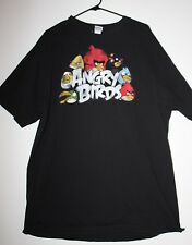Angry Birds Tee Shirt by Fifth Sun Black 2XL 100% Cotton