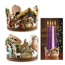 Nativity Scene Relief Advent Wreath
