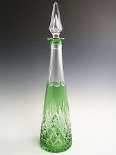 "ST louis crystal-MASSENET Design-Couleur Vert decanter - 16 1/2 """