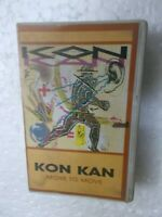 KON KAN MOVE TO MOVE CLAMSHELL 1989 RARE orig CASSETTE TAPE INDIA indian