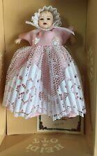 Heidi Ott Baby Doll In Long Pink & White Dress