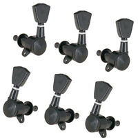 Guitar Tuning Pegs Tuners Machine Heads 3x3 Black Locking Tuning Keys 3L3R