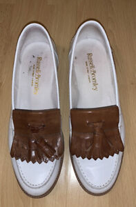 Russell and Bromley Loafers- white/tan Women's UK size 5 EUR 38