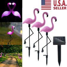3pcs LED Solar Lawn Garden Outdoor Light Lighting Ground Spotlight Flamingo