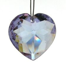 2 LILAC CUBIC ZIRCONIA 18mm Faceted Heart Beads