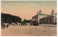 1910 BALLYNAHINCH STATION County Down NORTHERN IRELAND PC Postcard IRISH Eire