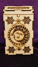 Wooden Tarot Box - living hinge on top, cutouts on front and sides