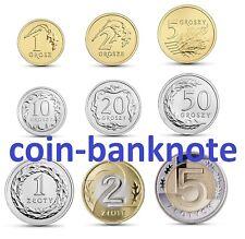 1 2 5 10 20 50 groszy grosz 1 2 5 zloty 2016 Polen Poland full set 9 coins UNC