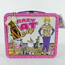 New Crazy Cat Lady Collectible Tin Novelty Lunch Box with Cat Charm