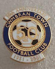More details for cwmbran town fc 50th anniversary 1951-2001 enamel football club crest pin badge