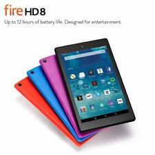 "Amazon  Fire HD 8 8"" 16GB Wi-Fi Tablet - Black (6 Gen) ,Free Shipping-Uk Stock"