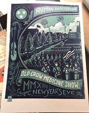 Old Crow Medicine Show Ryman Nye Dec 31st 2013 Poster Print S/N Nashville Ocms