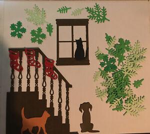 Christmas Card Scene Die Cuts Stairs & Window (2)