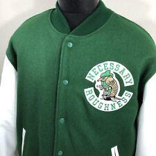 Vintage Necessary Roughness Jacket XL Movie Promo Leather Varsity Cast Crew