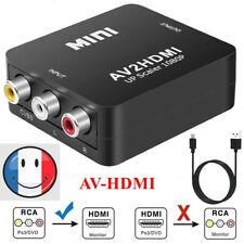 Adaptateur Convertisseur AV2HDMI RCA vers HDMI CVBS HD 1080p 4k HDTV / DVD+Cable