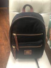 Frye New Ivy Large Backpack Nylon Black Brown Bag
