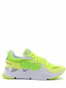 Enrico Coveri Sportswear Sneakers Motion Logo Lycra Metal giallo fluo