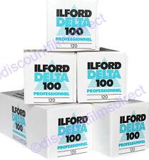 5 x ILFORD DELTA 100 120 Roll BLACK & WHITE CAMERA FILM by 1st CLASS POST