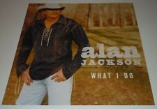 ALAN JACKSON~What I Do~Promo Poster Flat~Double Sided~NM Condtion~12x12~2004