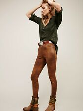 NWT NEW W/ TAGS FREE PEOPLE SUEDE LEATHER STUDDED STRETCH SKINNY PANTS JEANS HOT