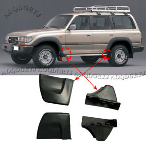 For Land Cruiser LC80 1991-1997 Nerf Bars Running Boards Ends Protection Cap 4pc