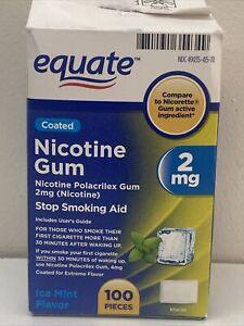 100ct Nicotine Ice Mint Flavor  Flavor 2mg  Stop Smoking Aid Exp 7/22