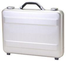 """TZ Case 3"""" Molded Aluminum Slim Line Attache Briefcase - Silver"""