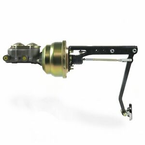 """Universal Under Dash Pedal With 7"""" Dual Power Brake Booster Conversion Kit"""