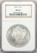 1881 S San Francisco  Morgan Dollar NGC MS 64