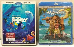 LOT OF 2 Disney Blu-Ray Discs - Finding Dory and Moana